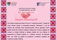 Spectacol artistic online - De Dragobete iubeste romaneste